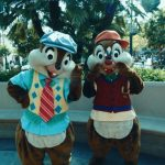 With Chip and Dale at Disneyland, America