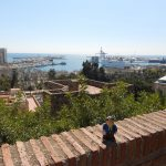 The port of Malaga from the Alcazaba fortress